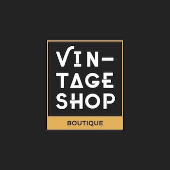 Ilustracja butika sklepu loga znaczka sztandar
