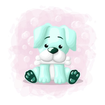 Ilustracja cartoon cute dog