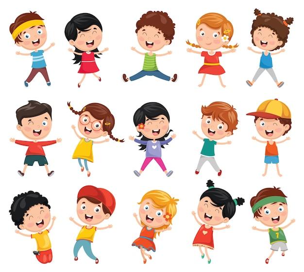 Ilustracja cartoon dzieci