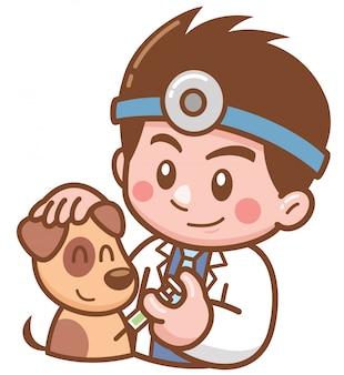 Ilustracja cartoon pet doctor