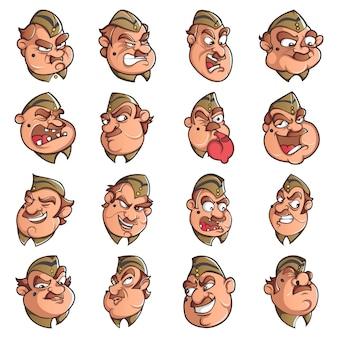 Ilustracja cartoon zestaw policji człowieka.