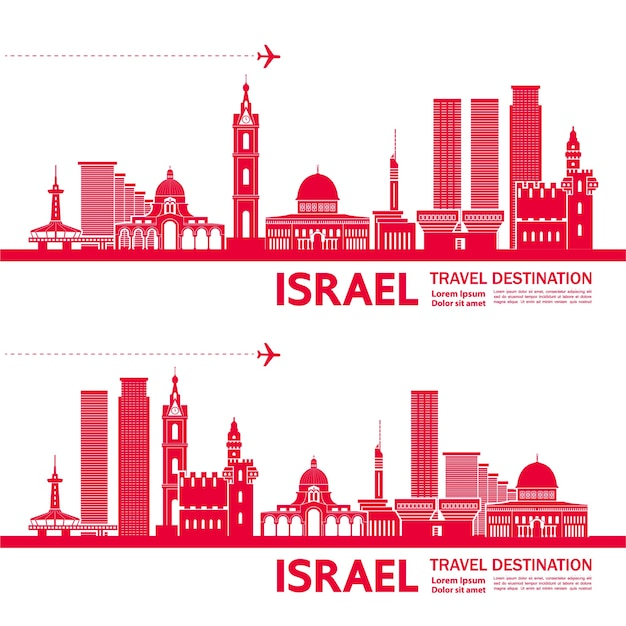 Ilustracja cel podróży izraela.