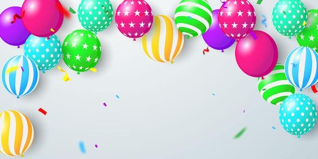 Ilustracja celebracja balony.