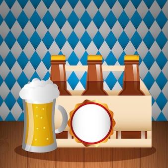 Ilustracja celebracja oktoberfest, festiwal piwa