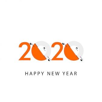 Ilustracja celebracja szczęśliwego nowego roku 2020