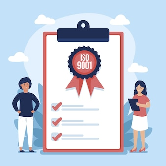Ilustracja certyfikacji iso