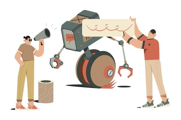 Ilustracja chatbota
