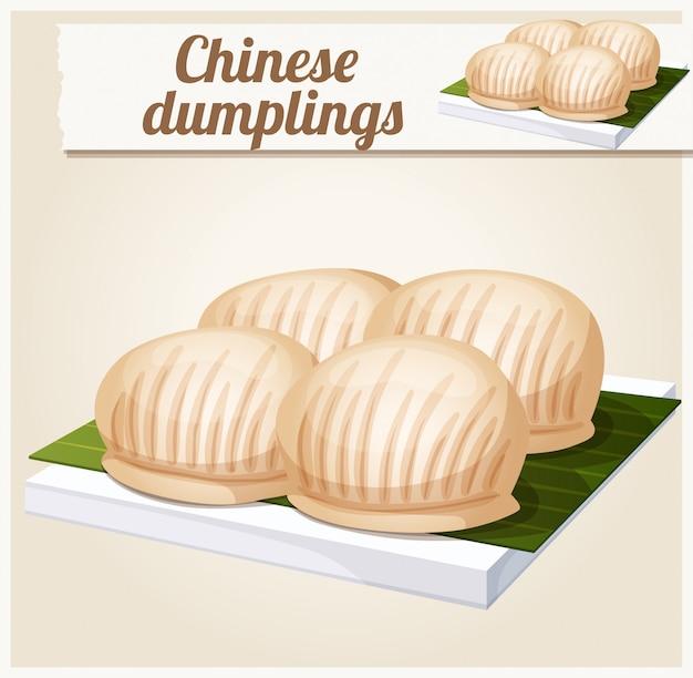 Ilustracja chińskie pierogi