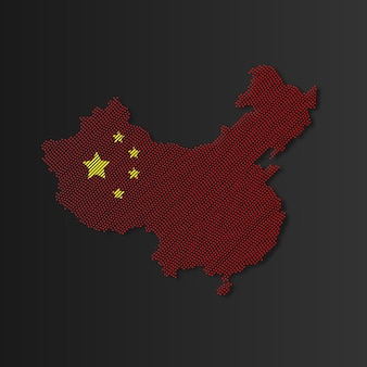 Ilustracja chińskiej mapy wektorowej chińskiej mapy