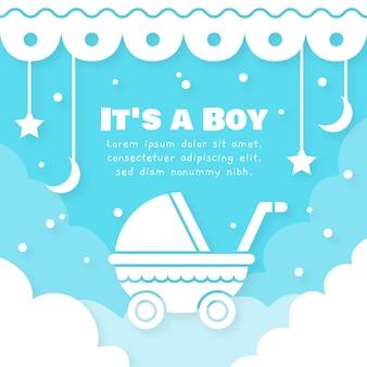 Ilustracja chłopiec prysznic