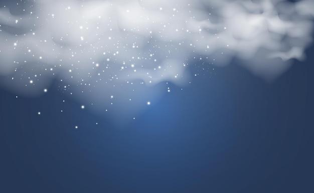 Ilustracja chmur realistyczne chmury deszczowe