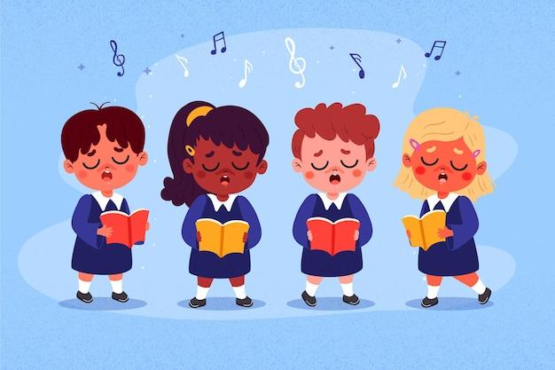 Ilustracja chór dzieci