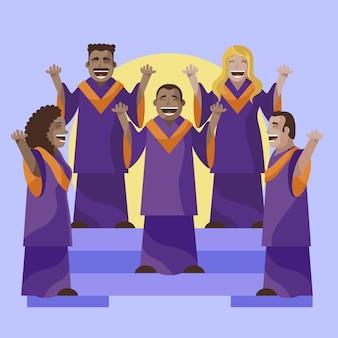 Ilustracja chór ewangelii