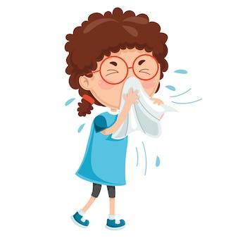 Ilustracja chorób dziecięcych