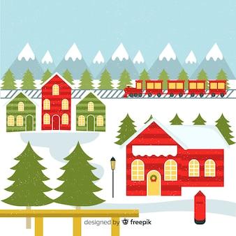 Ilustracja christmas town