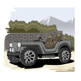 Ilustracja ciężarówka armii