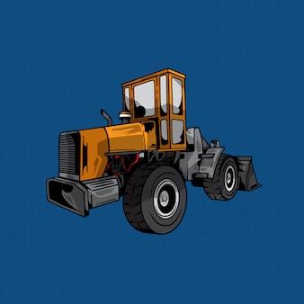 Ilustracja ciężarówka koparka