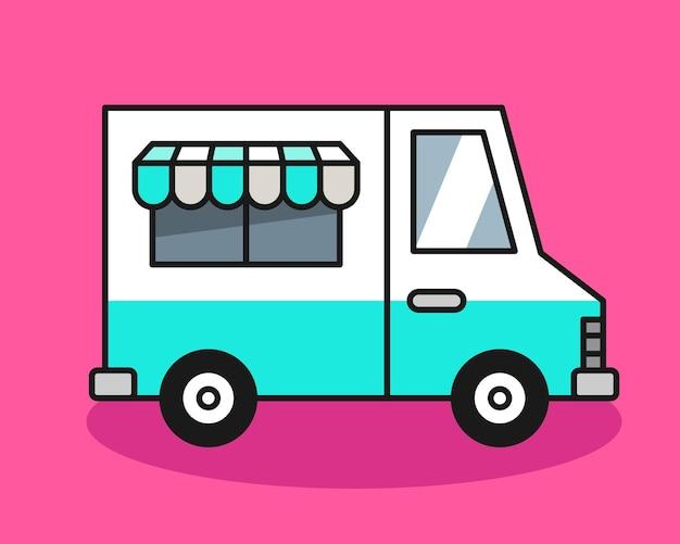 Ilustracja ciężarówka lody