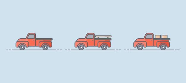 Ilustracja ciężarówki rolniczej