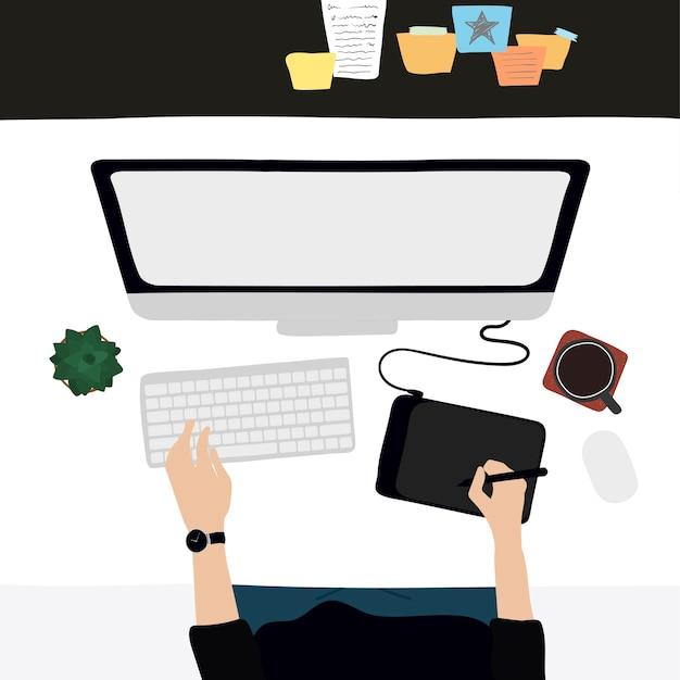 Ilustracja codziennego życia ludzi