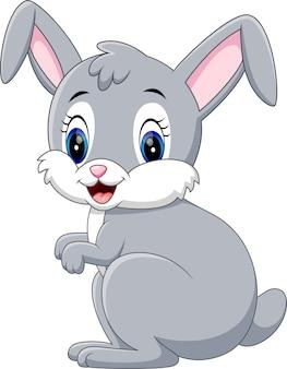 Ilustracja cute cartoon królik