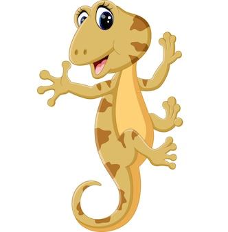 Ilustracja cute jaszczurka cartoon