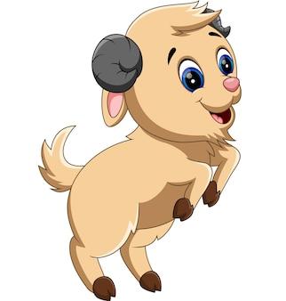 Ilustracja cute koza kreskówek