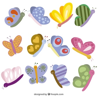 Ilustracja cute motyle