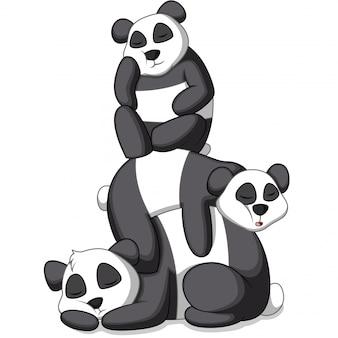Ilustracja cute panda