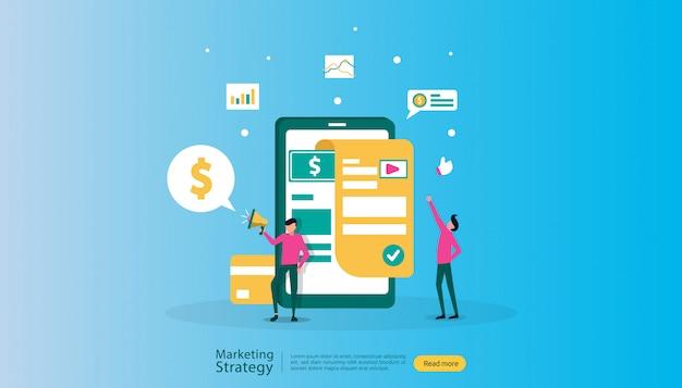 Ilustracja cyfrowej strategii marketingowej filii