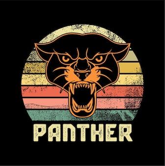 Ilustracja czarna pantera