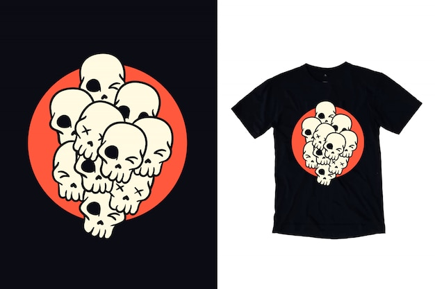 Ilustracja czaszki do projektowania t shirt