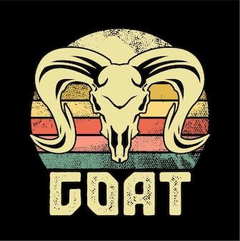 Ilustracja czaszki kozy