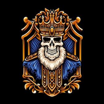 Ilustracja czaszki króla głowy