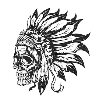 Ilustracja czaszki