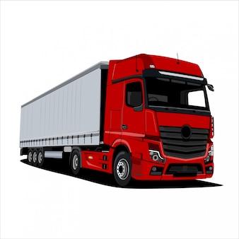 Ilustracja czerwona ciężarówka