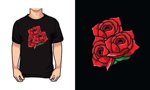 Ilustracja czerwona róża
