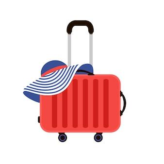 Ilustracja czerwone walizki podróżne