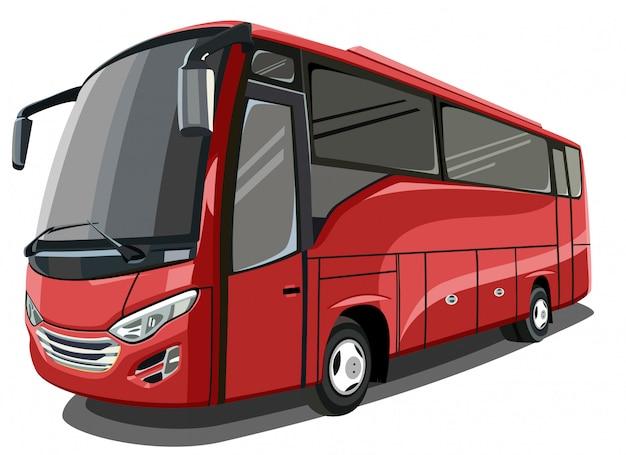 Ilustracja czerwony autobus