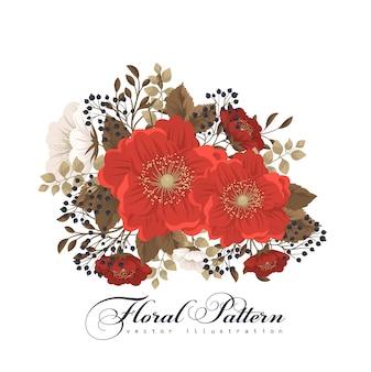 Ilustracja czerwony kwiat