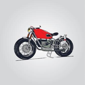 Ilustracja czerwony motocykl