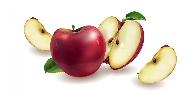 Ilustracja czerwonych jabłek