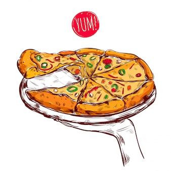 Ilustracja dania kuchni włoskiej