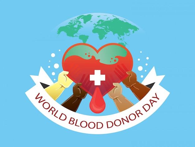 Ilustracja dawca krwi światowej dzień