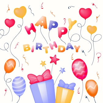 Ilustracja dekoracji urodziny