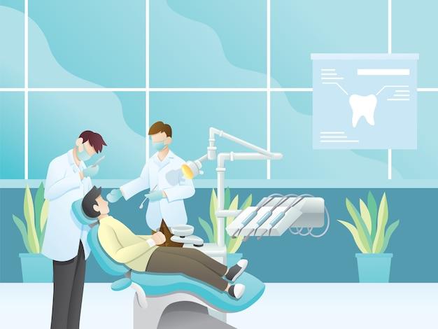 Ilustracja dentysta