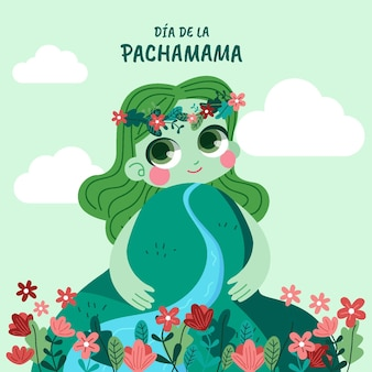 Ilustracja dia de la pachamama