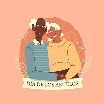 Ilustracja dia de los abuelos