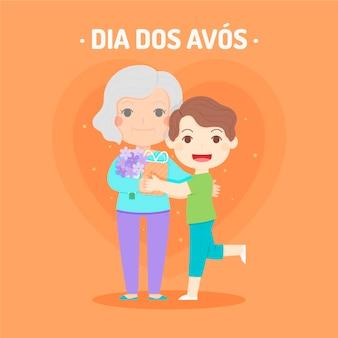 Ilustracja dia dos avos