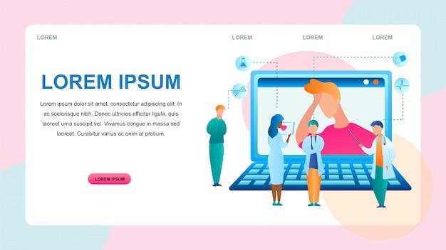 Ilustracja diagnostyka online diagnostyka pacjenta
